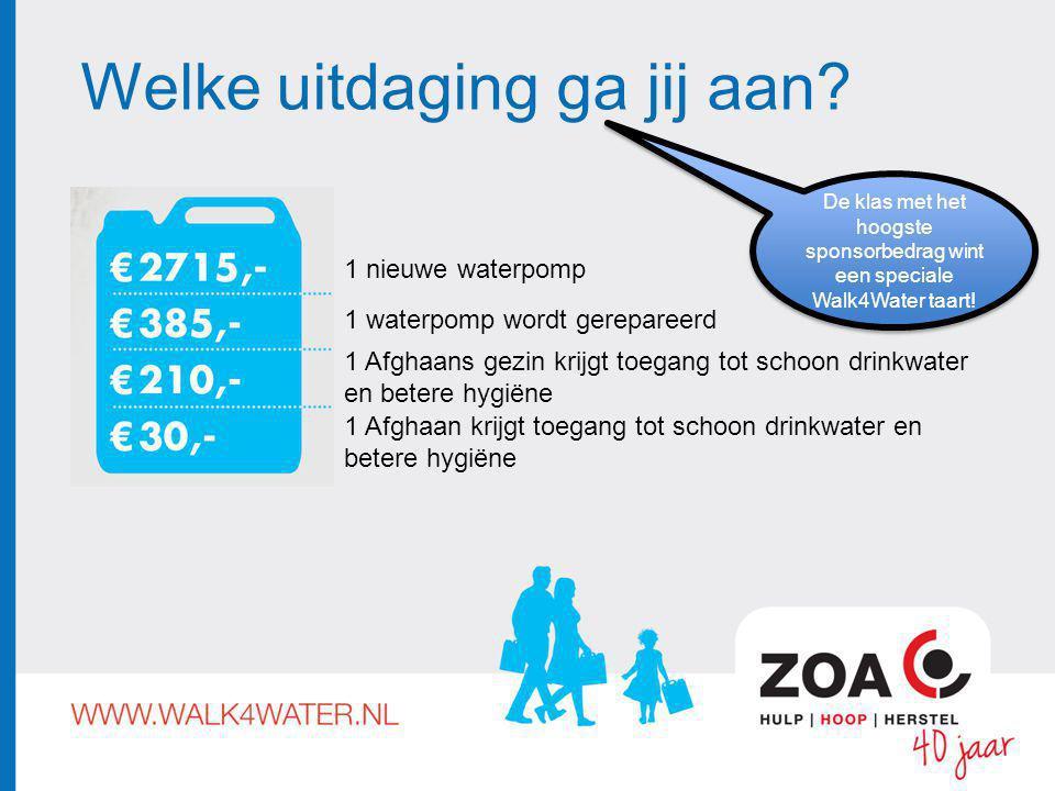 Loop mee voor drinkwater en betere hygiëne in Afghanistan.