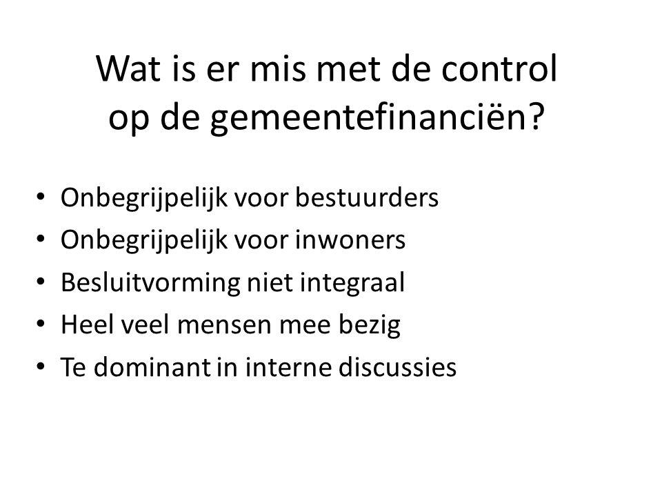 Wat is er mis met de control op de gemeentefinanciën.