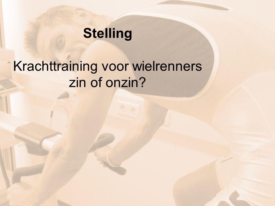 Stelling Krachttraining voor wielrenners zin of onzin?