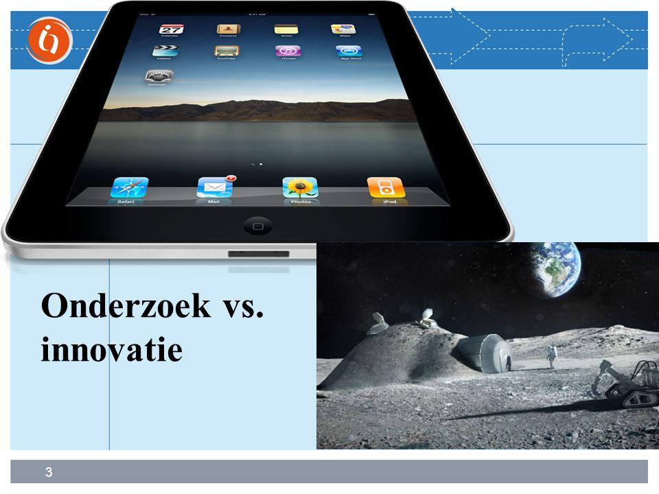 3 Onderzoek vs. innovatie
