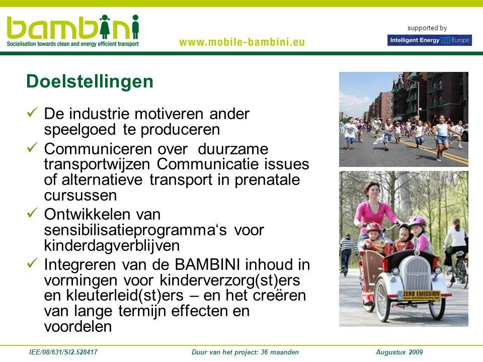 supported by Doelstellingen 2 Het mogelijk maken van de veranderen van straten in autoluwe woonstraten en speelstraten.
