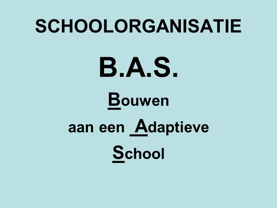 SCHOOLORGANISATIE B.A.S. B ouwen aan een A daptieve S chool