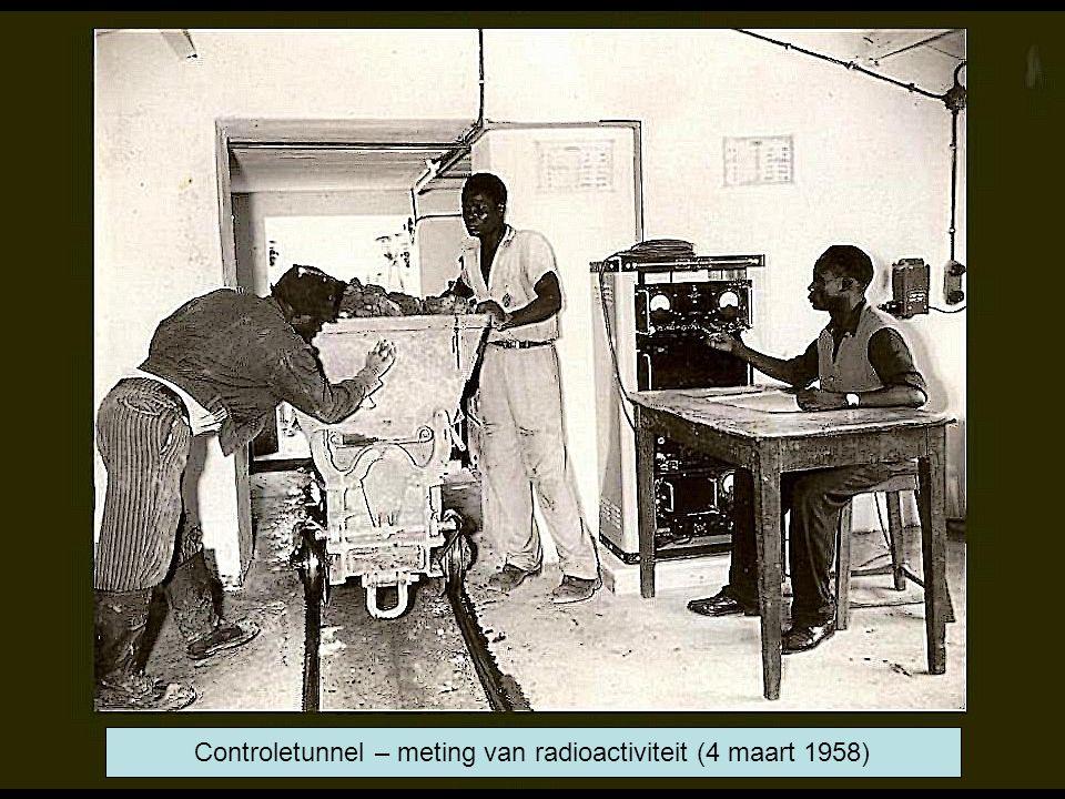 Controletunnel – meting van radioactiviteit (4 maart 1958)
