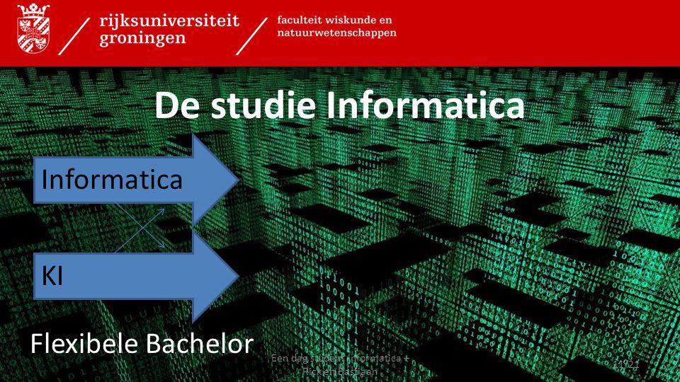 De studie Informatica Flexibele Bachelor Informatica KI 11/21 Een dag student Informatica – Rick en Bastiaan