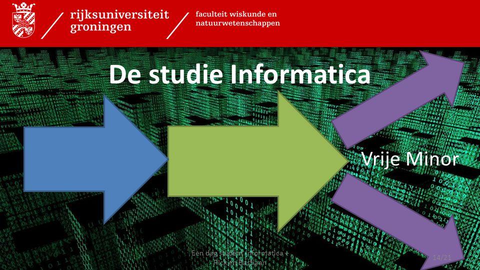 Vrije Minor De studie Informatica 14/21 Een dag student Informatica – Rick en Bastiaan