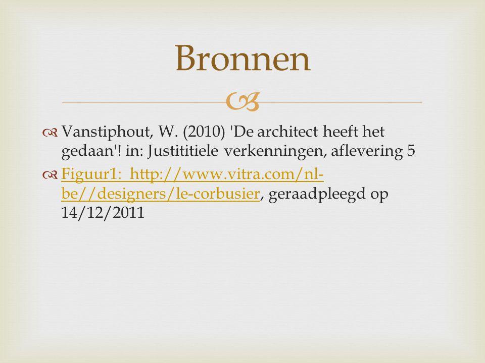   Vanstiphout, W. (2010) De architect heeft het gedaan .