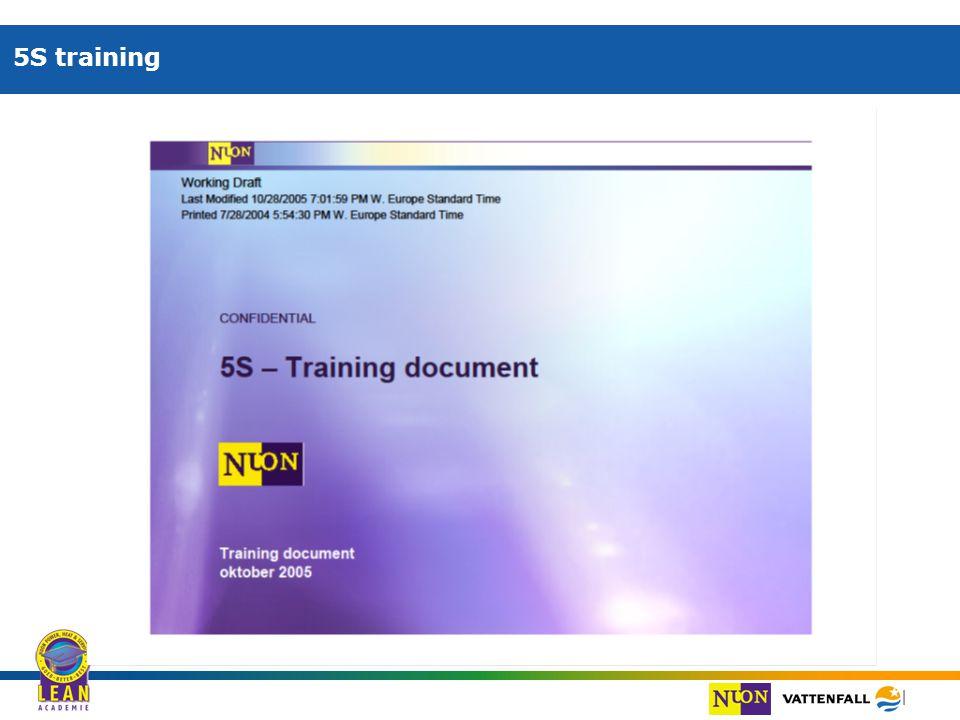 | 5S training