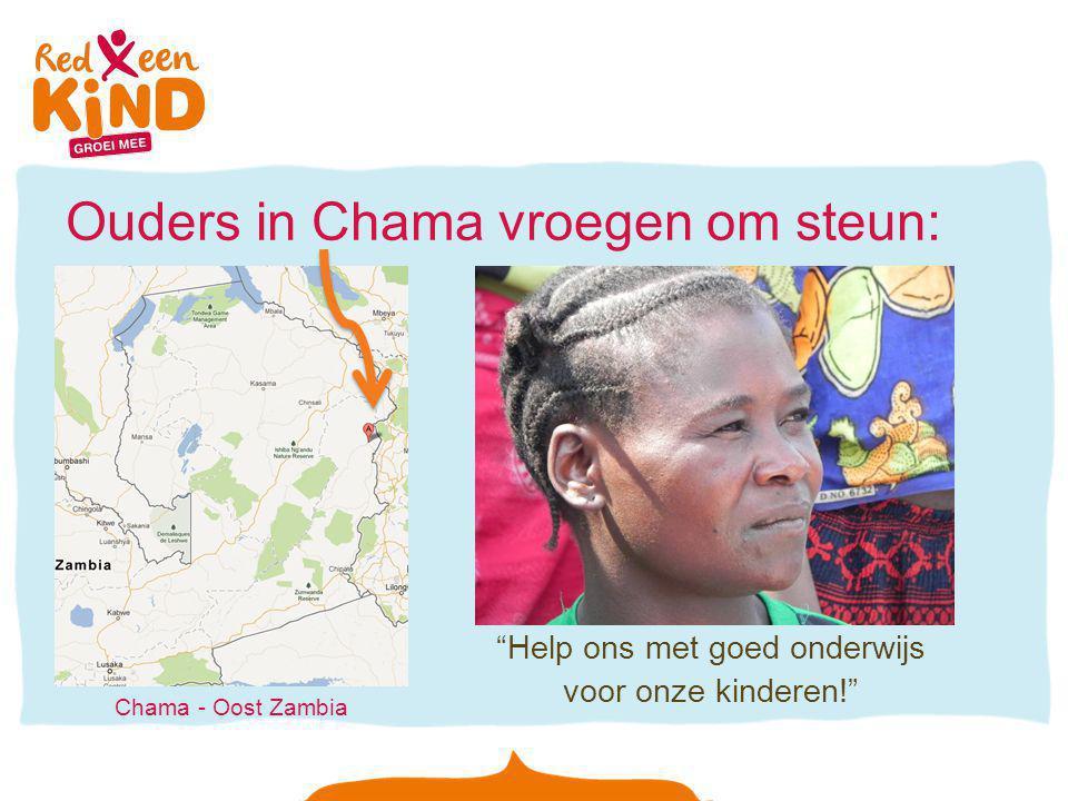 """Ouders in Chama vroegen om steun: """"Help ons met goed onderwijs voor onze kinderen!"""" Chama - Oost Zambia"""