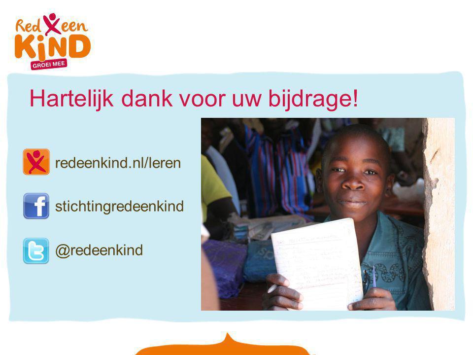 Hartelijk dank voor uw bijdrage! redeenkind.nl/leren stichtingredeenkind @redeenkind