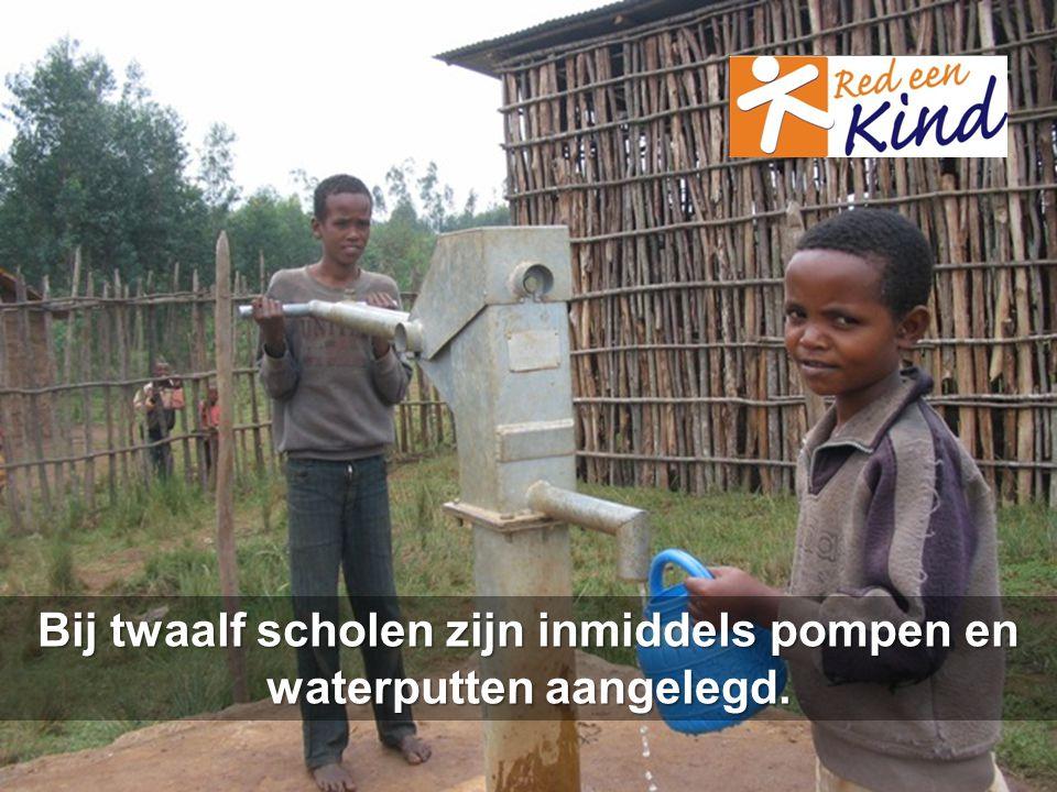 Bij twaalf scholen zijn inmiddels pompen en waterputten aangelegd.