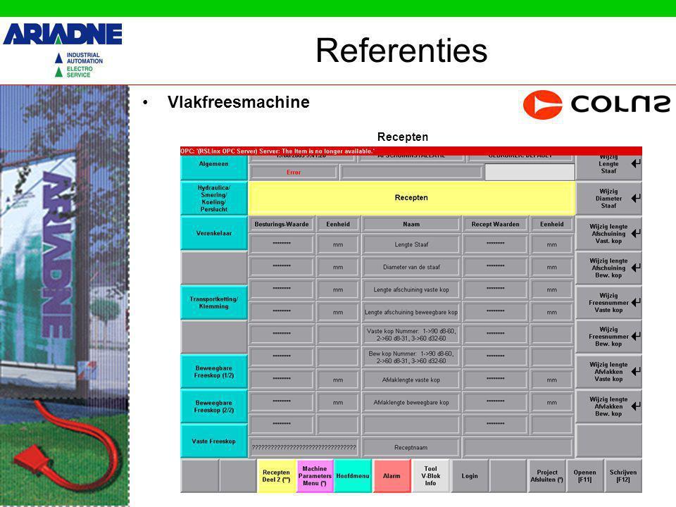 Referenties Vlakfreesmachine Recepten