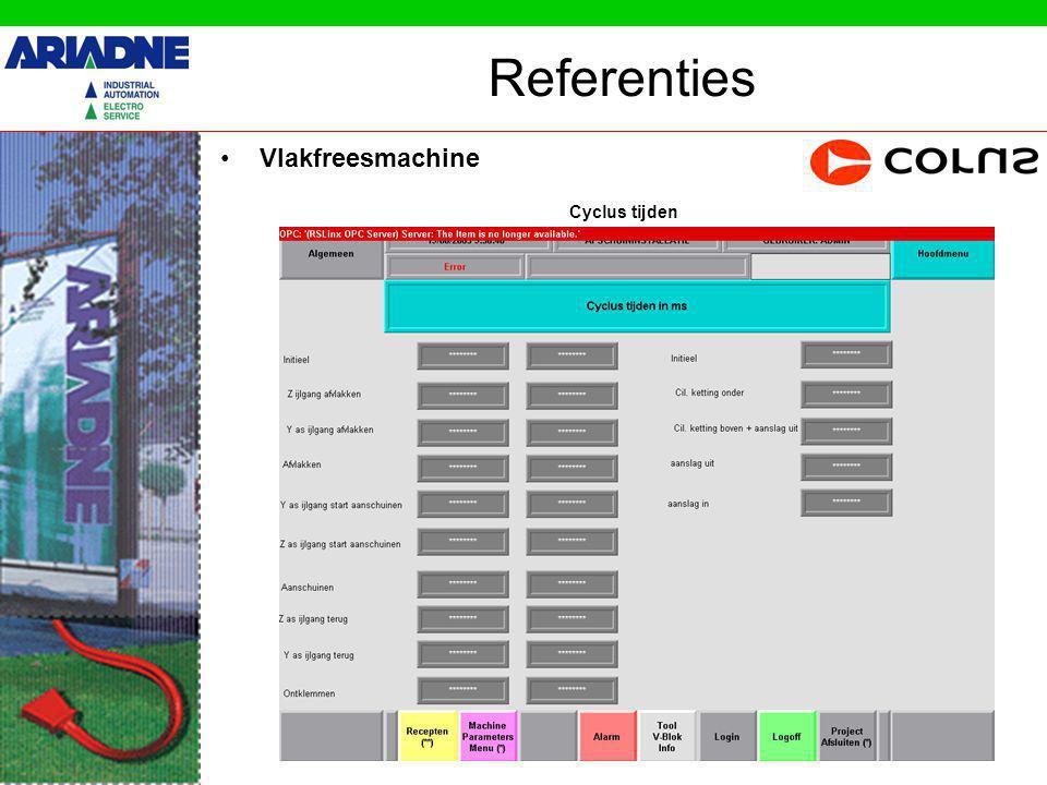 Referenties Vlakfreesmachine Hydrauliek- & Koelgroep