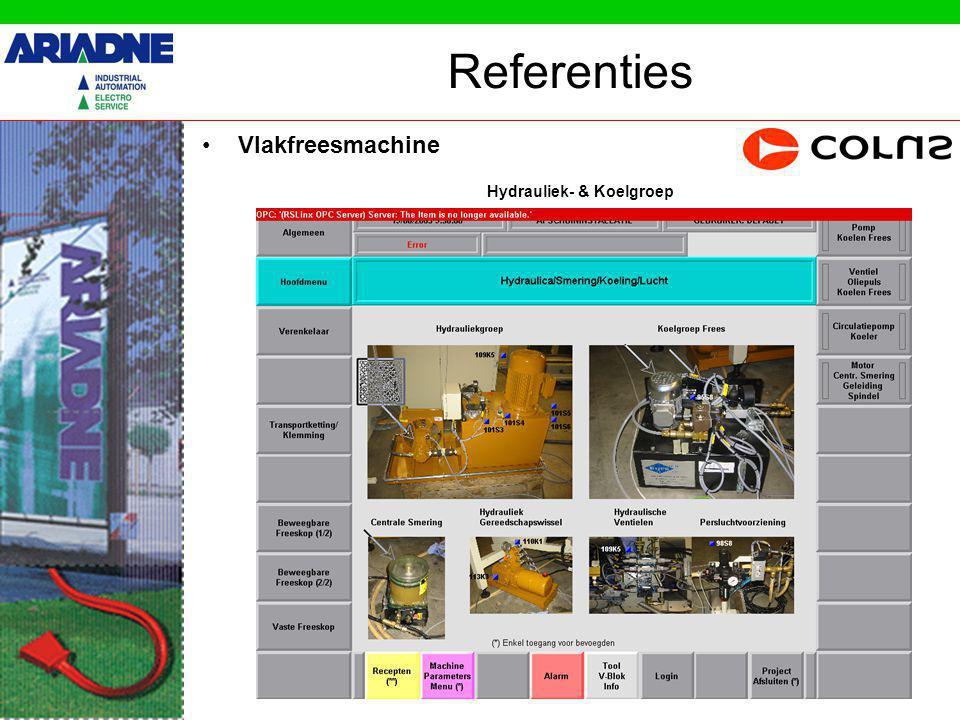 Referenties Vlakfreesmachine Alarmen