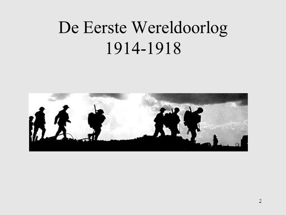 De Eerste Wereldoorlog 1