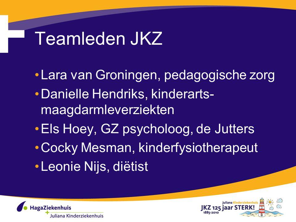 Teamleden JKZ Lara van Groningen, pedagogische zorg Danielle Hendriks, kinderarts- maagdarmleverziekten Els Hoey, GZ psycholoog, de Jutters Cocky Mesm