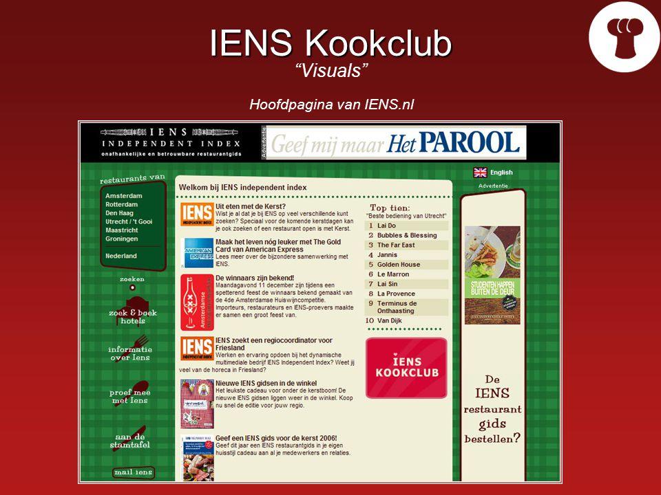 IENS Kookclub IENS Kookclub Visuals Hoofdpagina van IENS.nl
