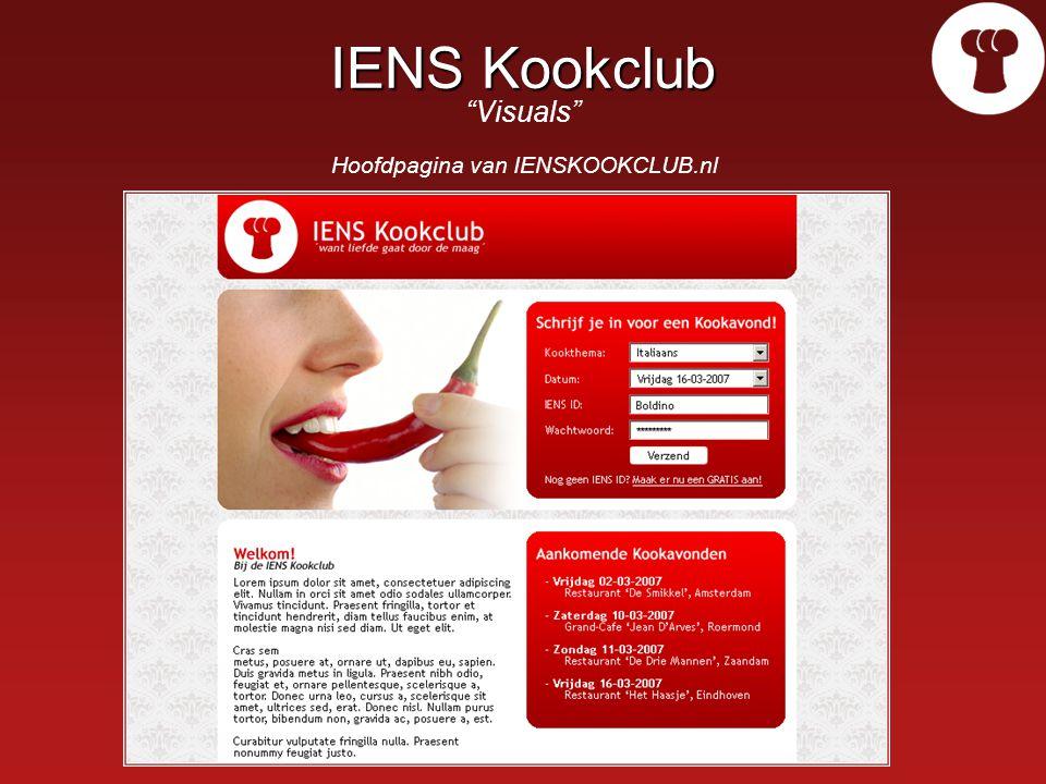 IENS Kookclub IENS Kookclub Visuals Hoofdpagina van IENSKOOKCLUB.nl