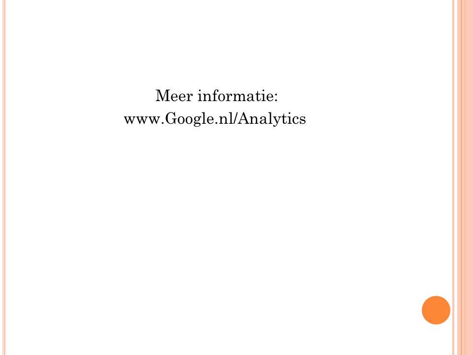 Meer informatie: www.Google.nl/Analytics