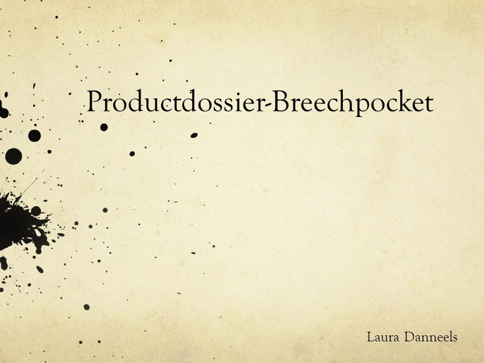 Productdossier-Breechpocket Laura Danneels
