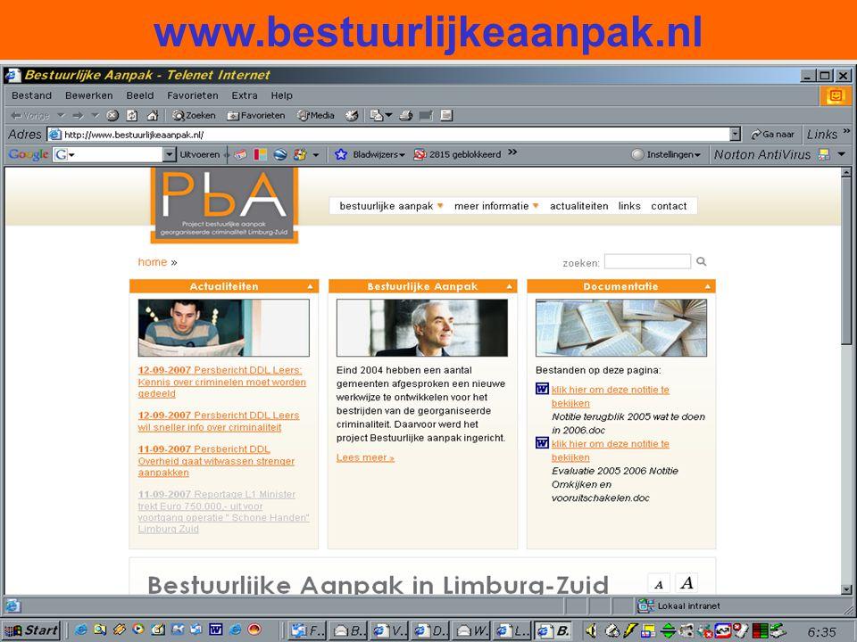 30 www.bestuurlijkeaanpak.nl