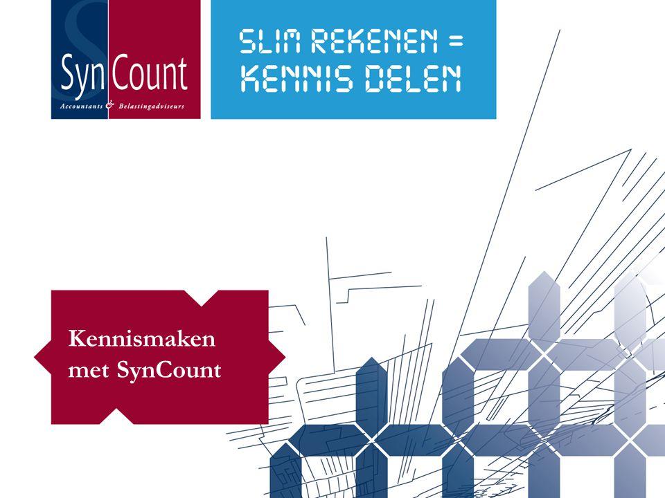Programma 1.Over SynCount 2.Onze werkwijze 3.Synergie van specialismen 4.Duurzaamheid 5.De toegevoegde waarde van SynCount