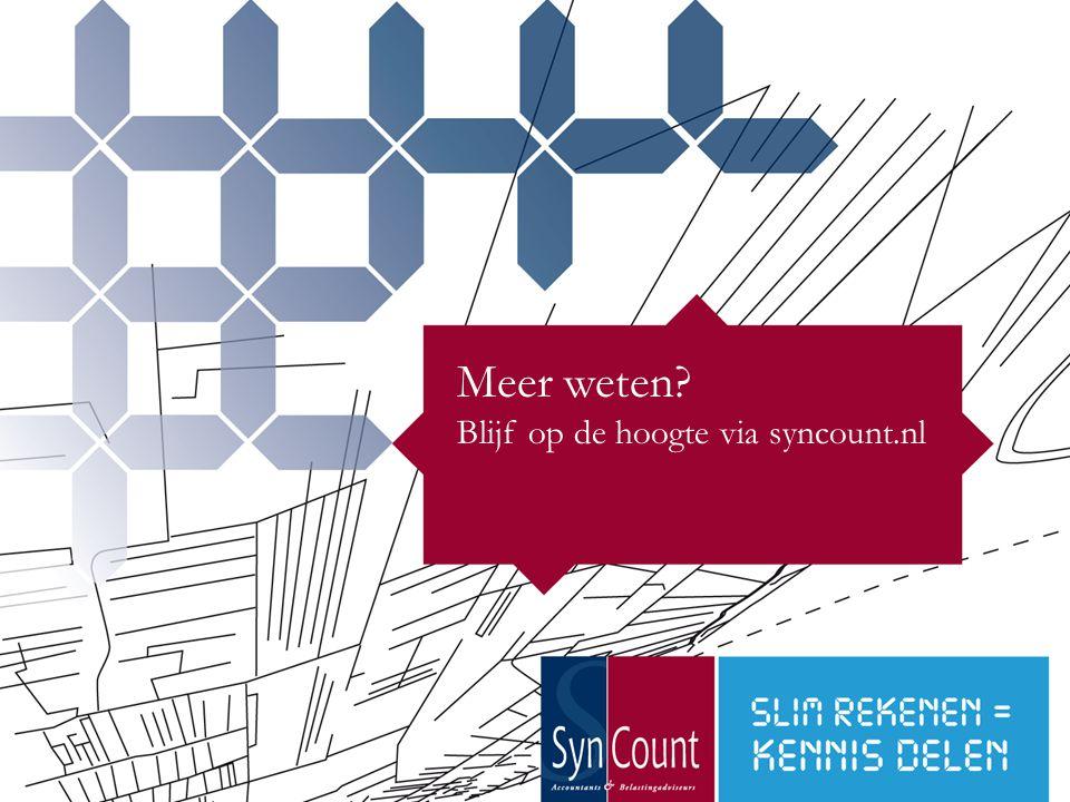 26 Meer weten? Blijf op de hoogte via syncount.nl