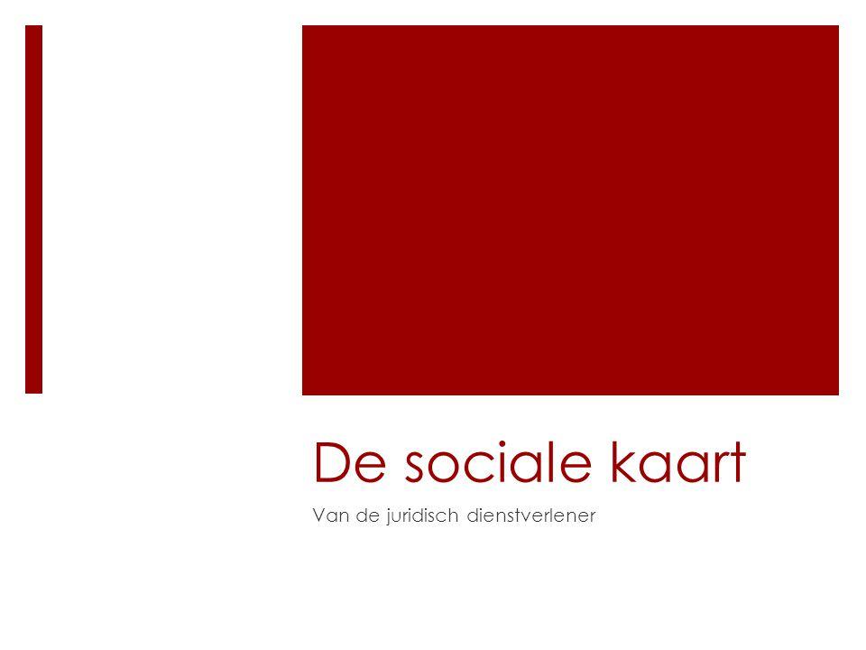 De sociale kaart Van de juridisch dienstverlener
