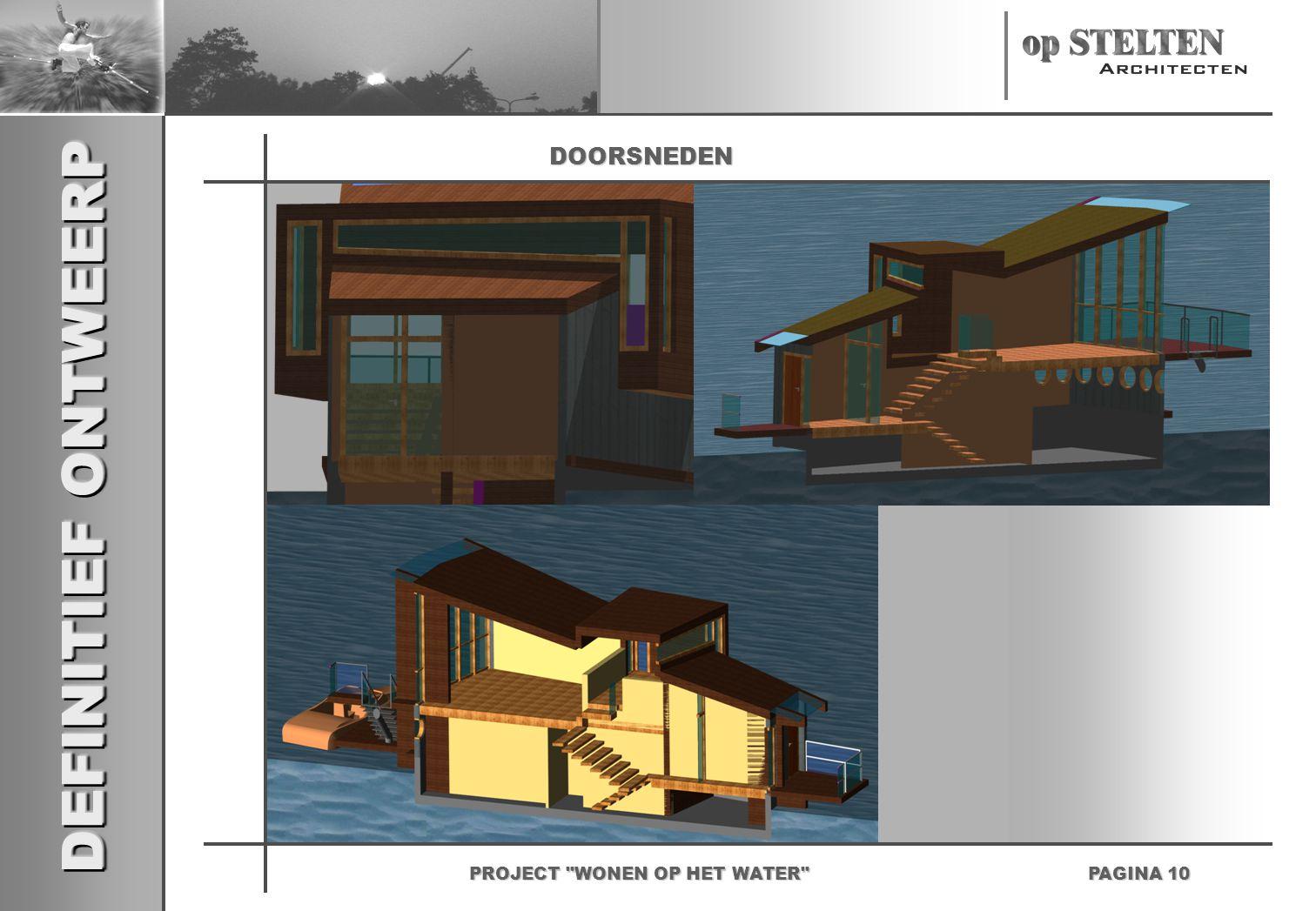 DEFINITIEF ONTWEERP PAGINA 10 PROJECT WONEN OP HET WATER DOORSNEDEN