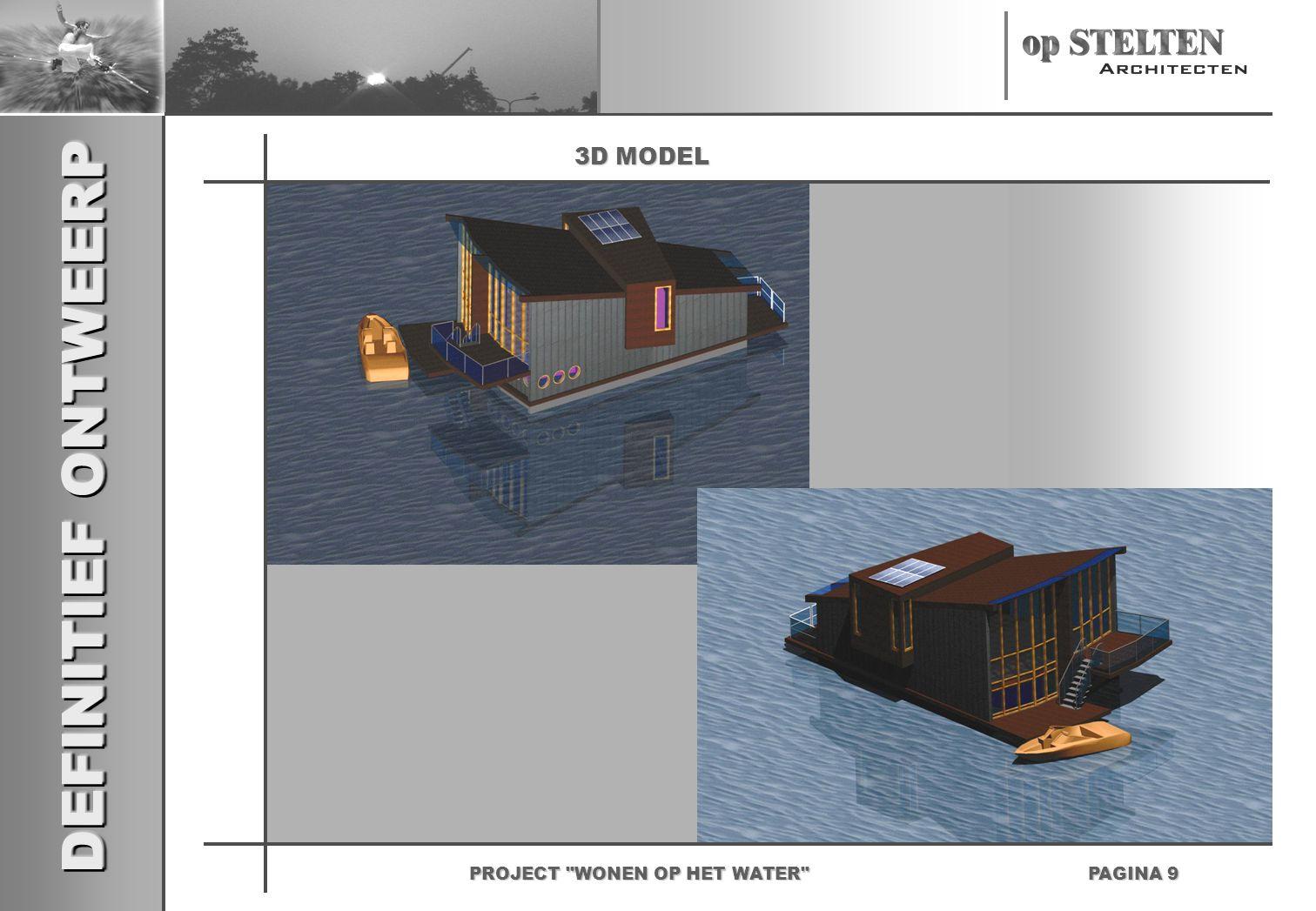 DEFINITIEF ONTWEERP PAGINA 9 PROJECT WONEN OP HET WATER 3D MODEL