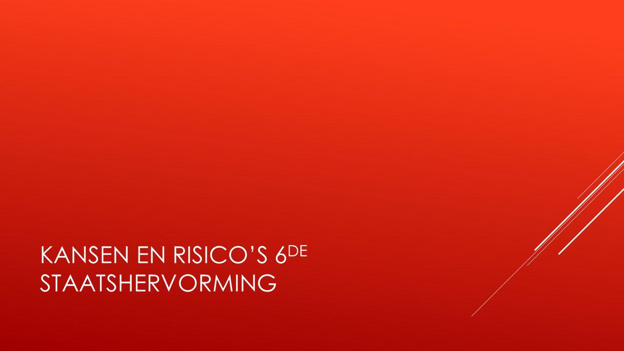KANSEN EN RISICO'S 6 DE STAATSHERVORMING