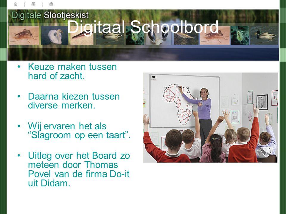 Digitaal Schoolbord Keuze maken tussen hard of zacht.