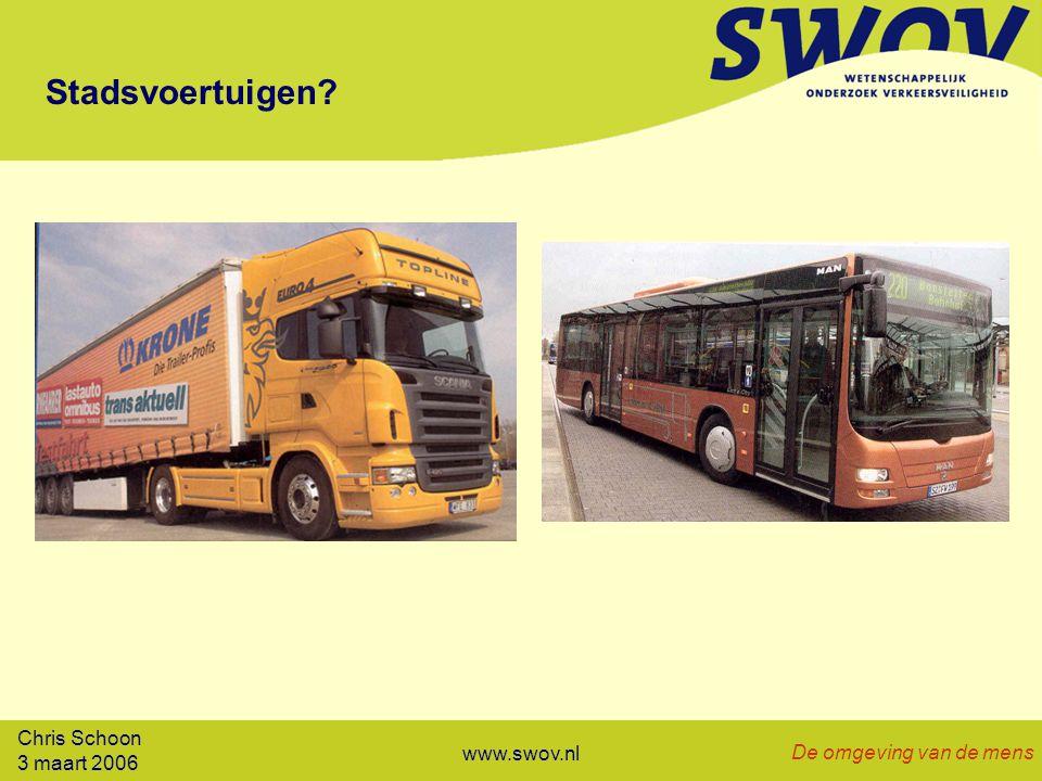 Chris Schoon 3 maart 2006 De omgeving van de mens www.swov.nl Stadsvoertuigen?