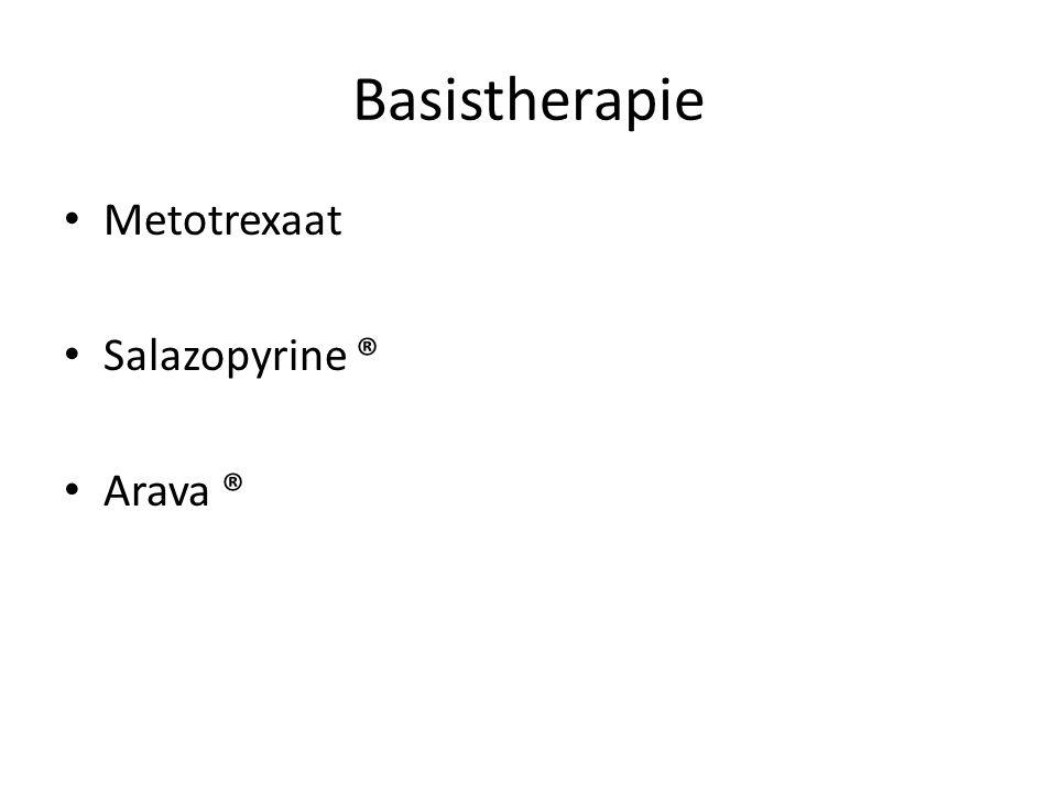 Basistherapie Metotrexaat Salazopyrine ® Arava ®