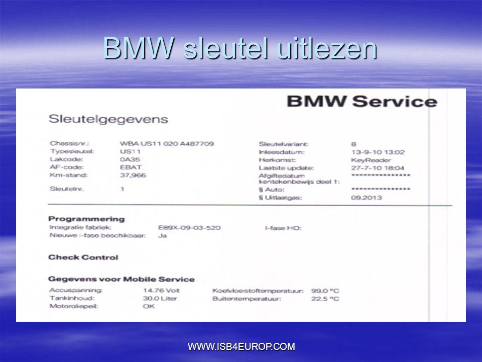 WWW.ISB4EUROP.COM BMW sleutel uitlezen