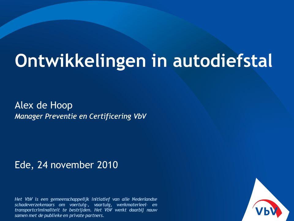 Het VbV is een gemeenschappelijk initiatief van alle Nederlandse schadeverzekeraars om voertuig-, vaartuig, werkmaterieel- en transportcriminaliteit t