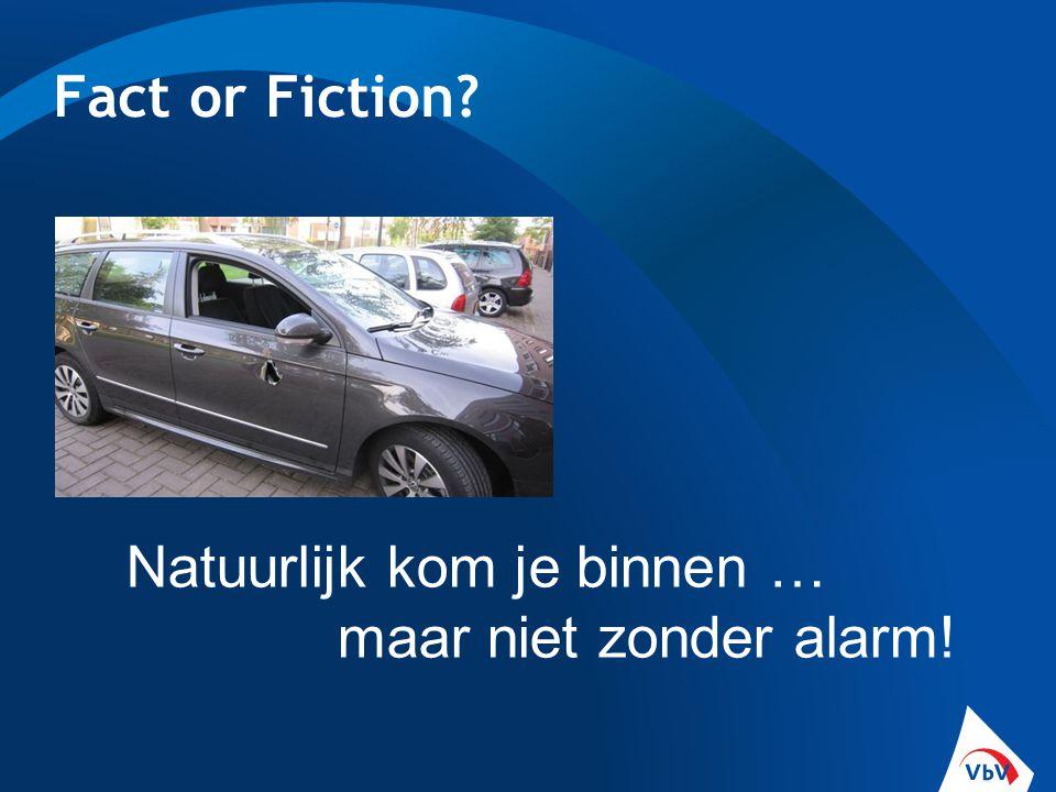 Fact or Fiction Natuurlijk kom je binnen … maar niet zonder alarm!