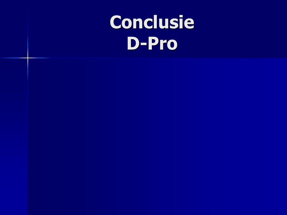 Conclusie D-Pro