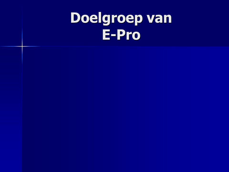 Doelgroep van E-Pro