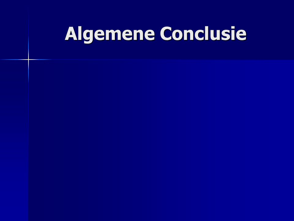 Algemene Conclusie