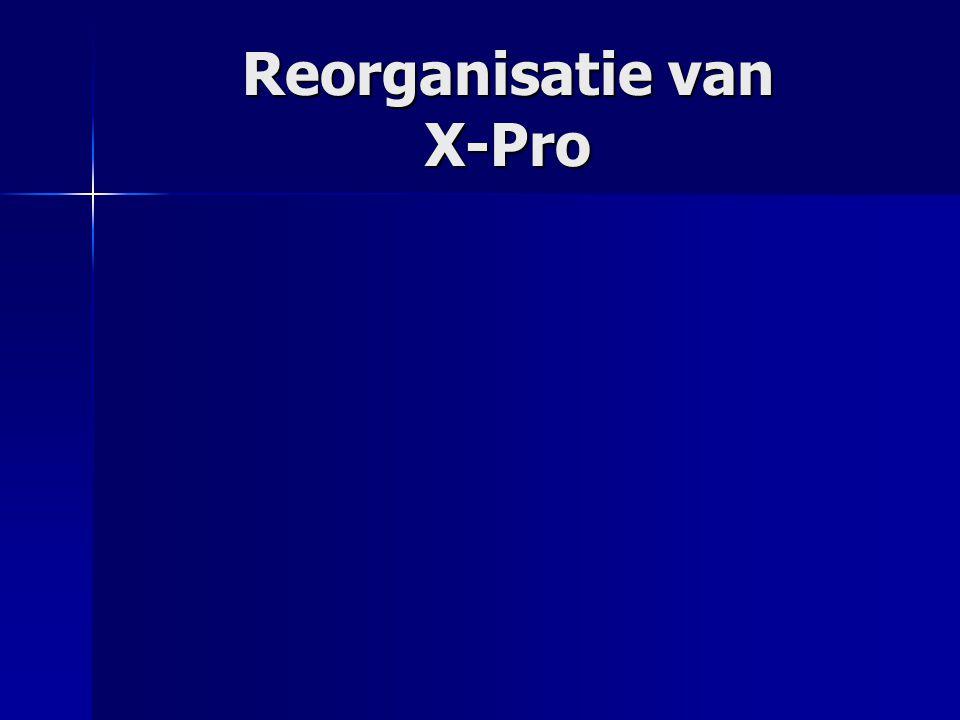 Reorganisatie van X-Pro
