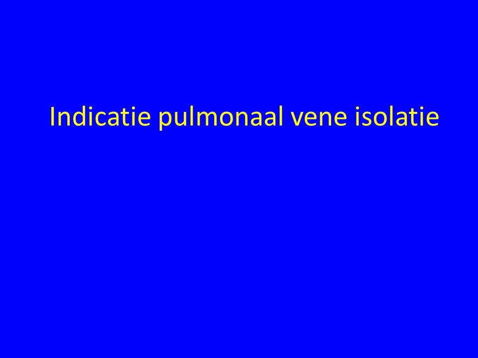 Indicatie pulmonaal vene isolatie