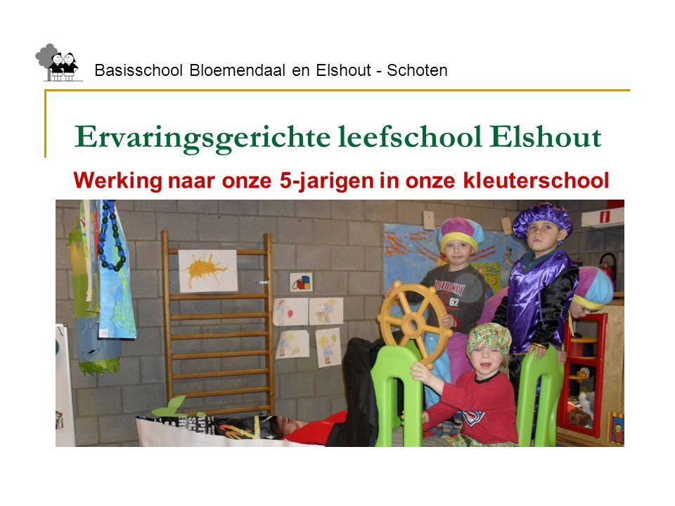 Ervaringsgerichte leefschool Elshout Basisschool Bloemendaal en Elshout - Schoten Werking naar onze 5-jarigen in onze kleuterschool