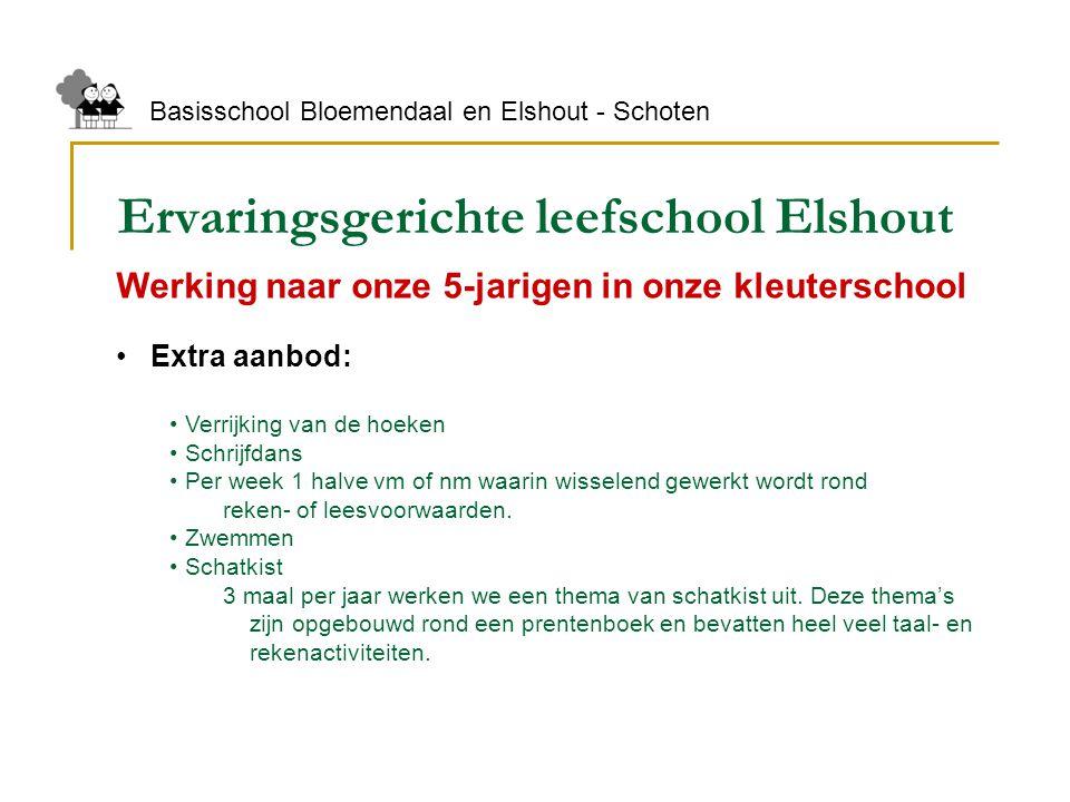 Ervaringsgerichte leefschool Elshout Basisschool Bloemendaal en Elshout - Schoten Werking naar onze 5-jarigen in onze kleuterschool Extra aanbod: Verr