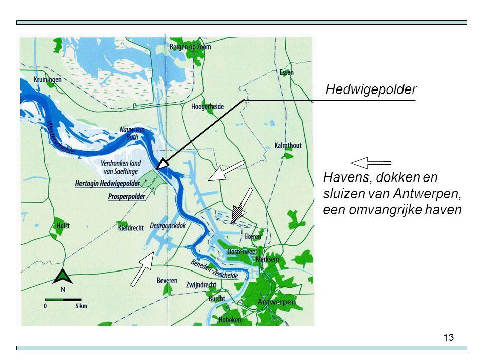 13 Havens, dokken en sluizen van Antwerpen, een omvangrijke haven Hedwigepolder