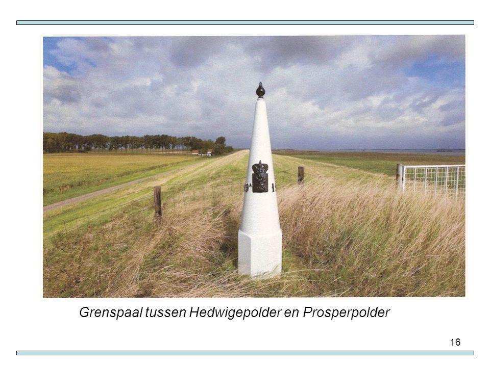 16 Grenspaal tussen Hedwigepolder en Prosperpolder