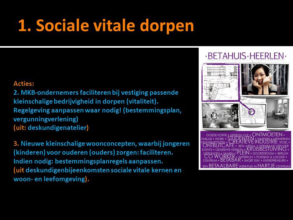 1.Sociale vitale dorpen Acties: 2.