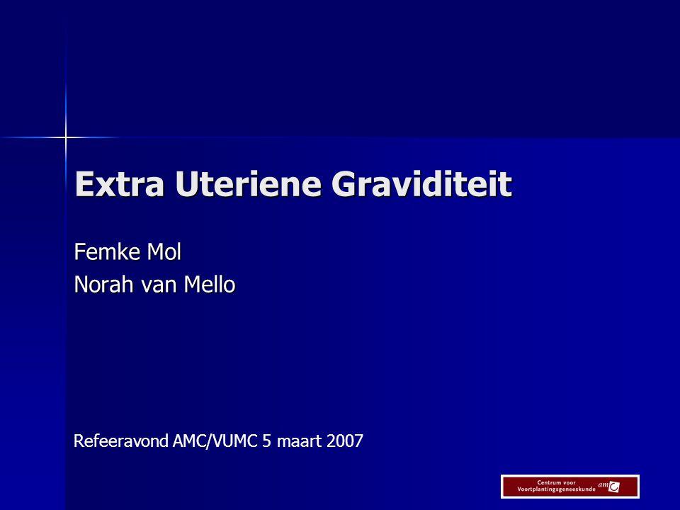 Extra Uteriene Graviditeit Femke Mol Norah van Mello Refeeravond AMC/VUMC 5 maart 2007