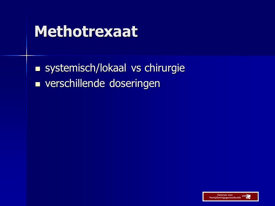 Methotrexaat versus Expectatief beleid METEX studie