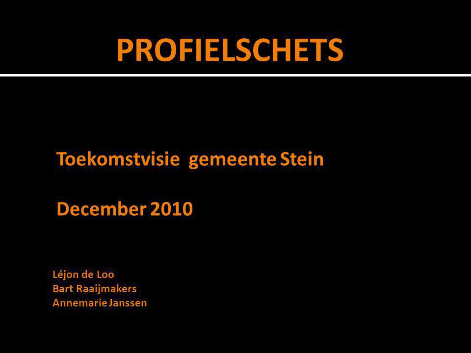 Toekomstvisie gemeente Stein December 2010 PROFIELSCHETS Léjon de Loo Bart Raaijmakers Annemarie Janssen