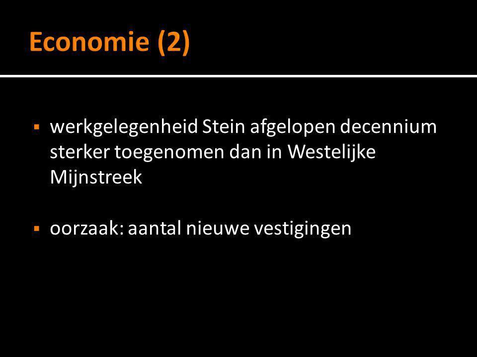  werkgelegenheid Stein afgelopen decennium sterker toegenomen dan in Westelijke Mijnstreek  oorzaak: aantal nieuwe vestigingen